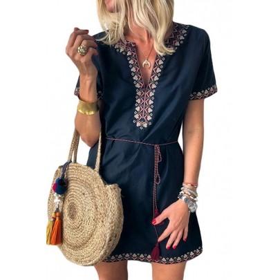 Dámské modré letní šaty CLARINA