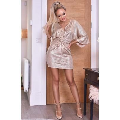 Dámské champagne šaty TEODORA