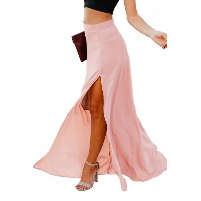 Dámská dlouhá růžová sukně