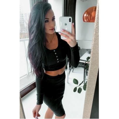 Dámský černý set - sukně a tričko