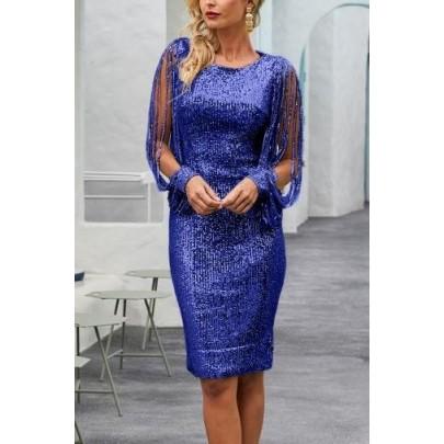 Dámské elegantní modré šaty MARCELLA