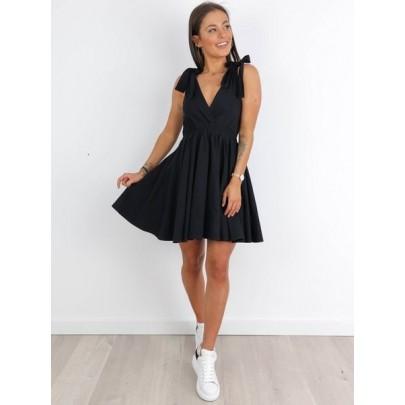 Dámské černé šaty AIDA