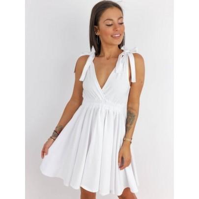 Dámské bílé šaty AIDA