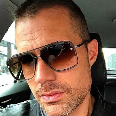 Pánské sluneční brýle Tatum černé hnědé