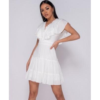 Dámské letní bílé šaty