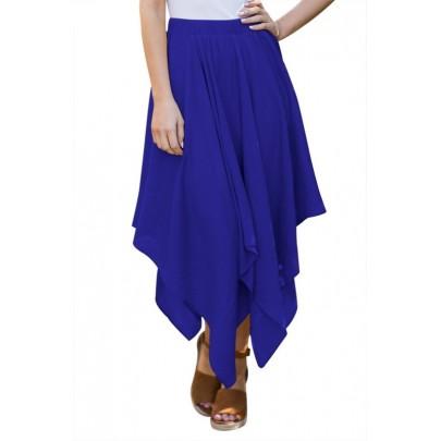 Dámská nepravidelná sukně - modrá