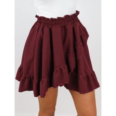 Dámská atraktivní burgundy sukně