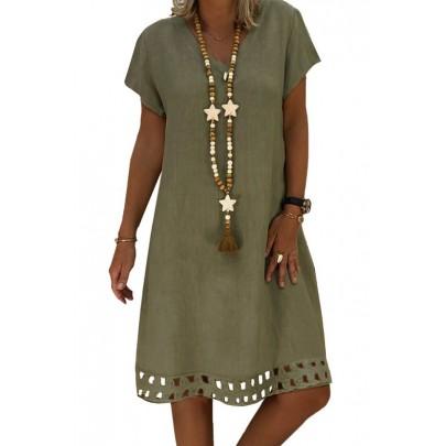 Dámské olivové šaty BETTA
