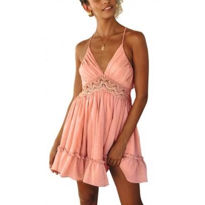 Dámské růžové letní mini šaty VIOLETTA