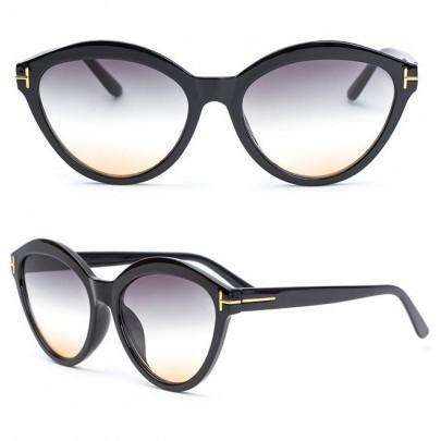 Dámské sluneční brýle Mercede černé yellow