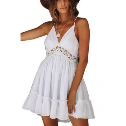 Dámské bílé letní mini šaty VIOLETTA