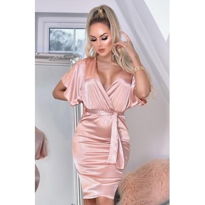 Dámské růžové šaty ELVERA