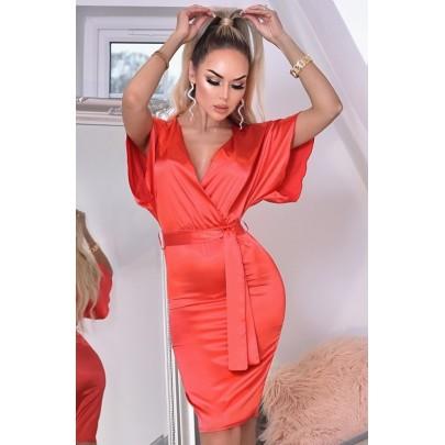 Dámské červené šaty ELVERA