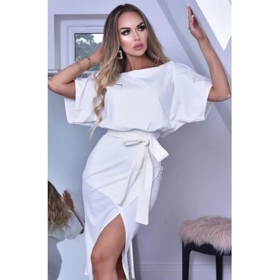 Dámské bílé šaty CLARICE
