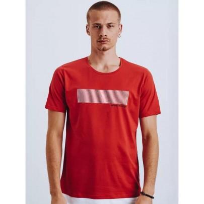 Moderní červené pánské tričko RX4651