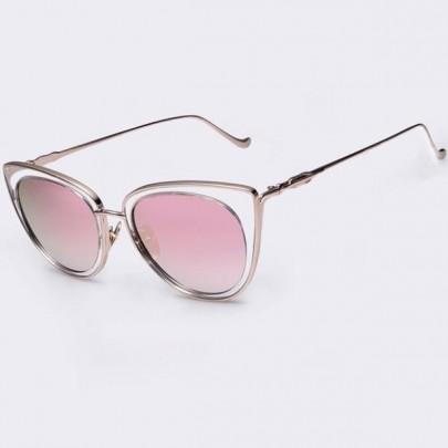 Dámské sluneční brýle Elia zlatý rám růžové skla
