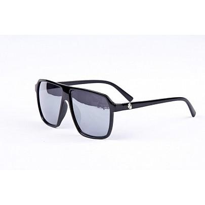 Sluneční brýle URBAN - černé Dot zrcadlová skla