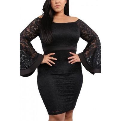 Dámské plus size šaty - černé