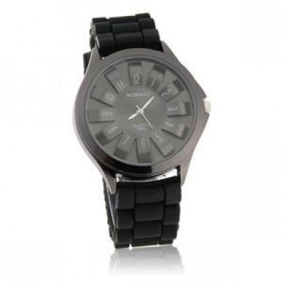 Silikonové hodinky FLOWER 3D černé