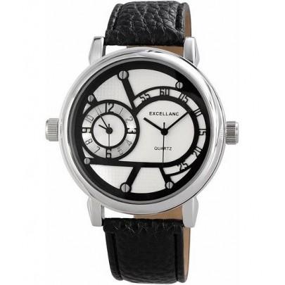 Pánské hodinky Excellanc Dual Zone - černé White