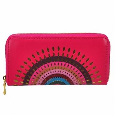 Stylová peněženka Aztec růžová