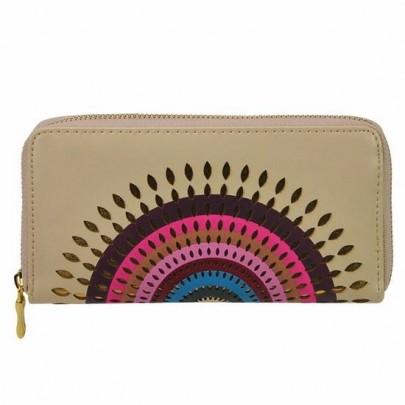Stylová peněženka Aztec béžová
