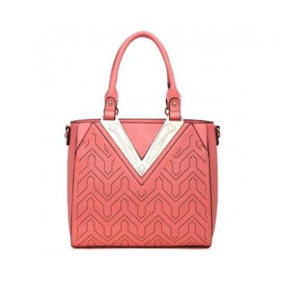 Exkluzivní kabelka se vzorem - růžová