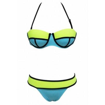 Dámské plavky Kiara - modré zelené