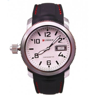Pánské hodinky Curren - černobílé