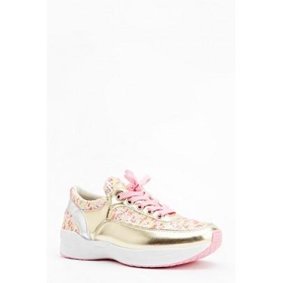 Dámské tenisky Mettalic - růžové zlaté