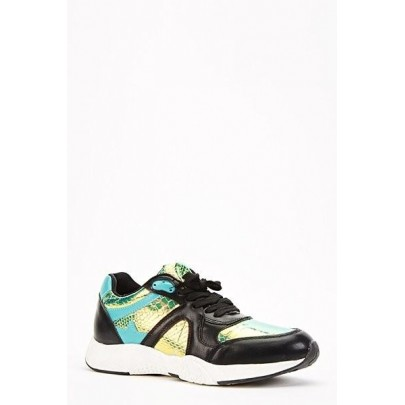 Dámské tenisky Croc černé - zelené