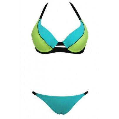Dámské plavky - modré zelené