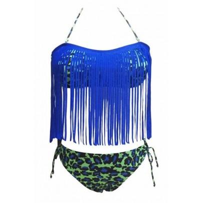 Plavky se střapci - modré