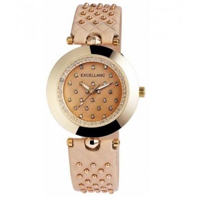 Dámské hodinky Excellanc  vybíjeny béžové