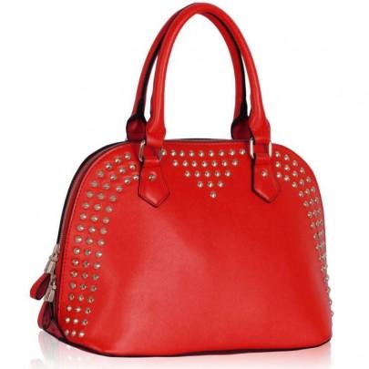 Dámská vybíjená kabelka červená