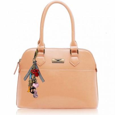 Dámská kabelka s přívěskem Nude
