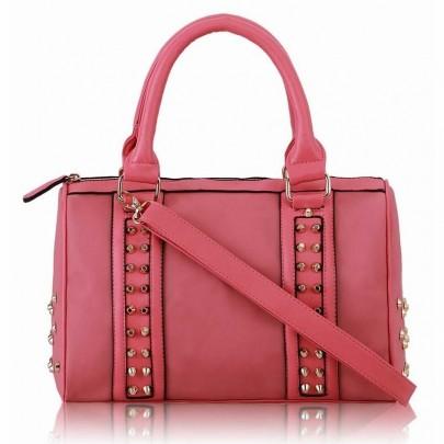 Dámská vybíjená kabelka růžová