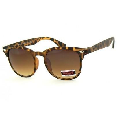Sluneční brýle WAYFARER - hnědý matný rám hnědé skla Leo