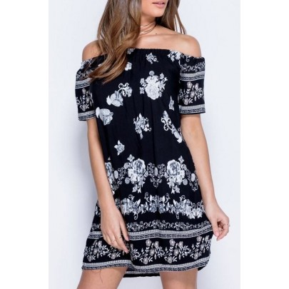 Dámské šaty Flowers černé