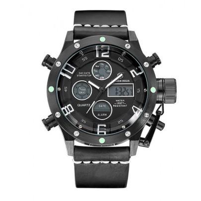 Pánské hodinky GOLDEN HOUR - černo bílé