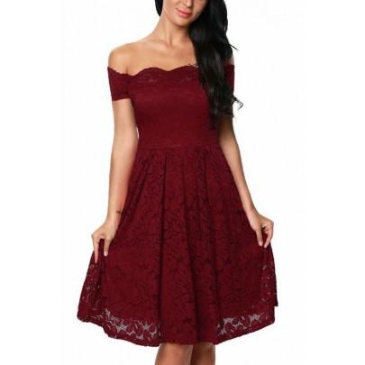 Plus size šaty Emily - vínové