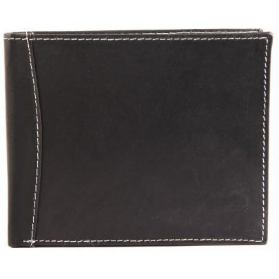 Pánská kožená peněženka - černobílá
