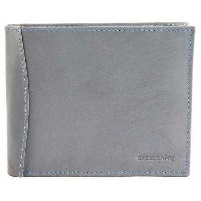 Stylová pánská kožená peněženka - šedá