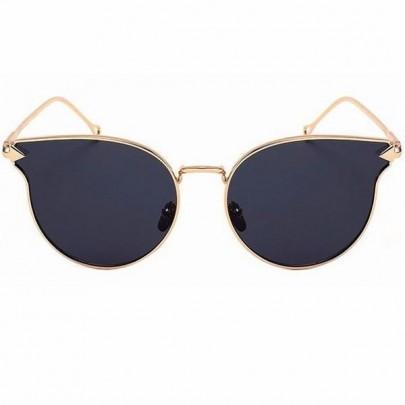 Dámské sluneční brýle Emma zlatý rám černé skla