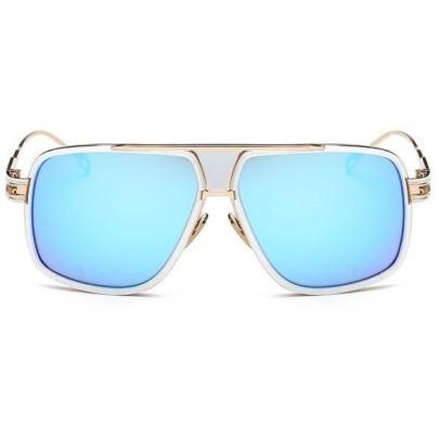 Sluneční brýle Hawk bílé modré skla