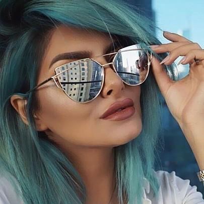 Dámské sluneční brýle Glam zlatý rám zrcadlová skla