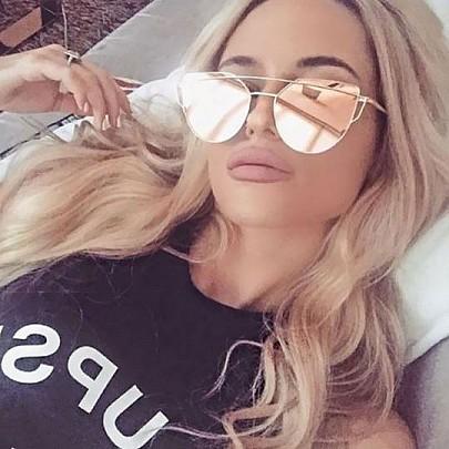 Dámské sluneční brýle Glam zlatý rám růžové skla
