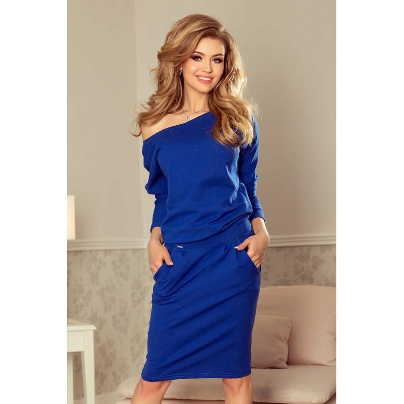 3d340feb0fd Stylové dámské šaty Tessa - modré 189-2
