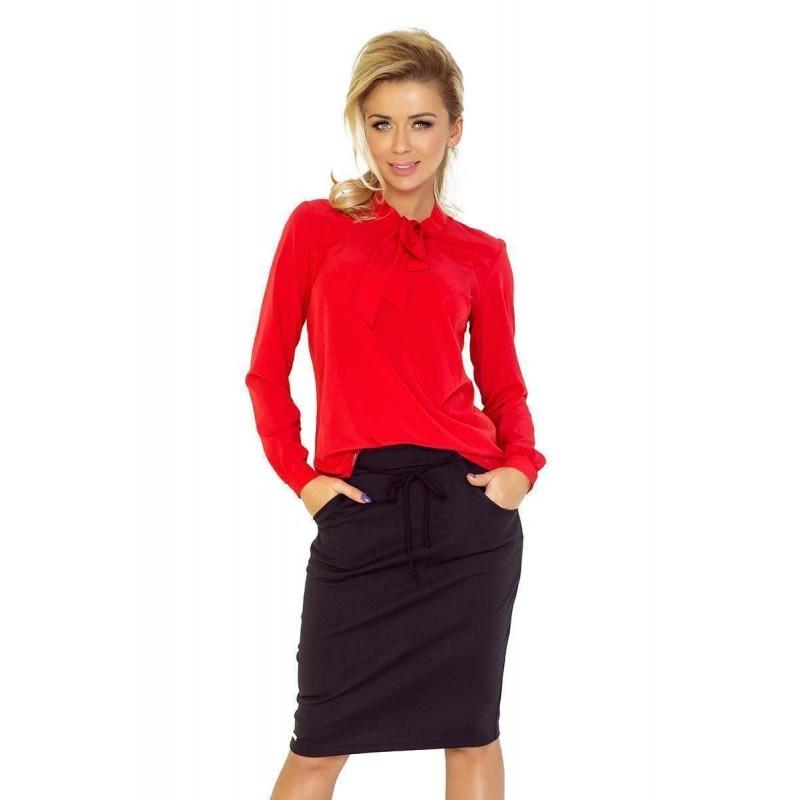Elegantní dámská halenka - červená 140-3  f9d9873a1e