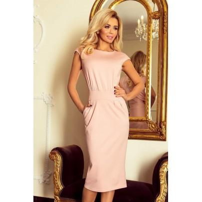 Elegantní midi šaty Edita - růžové 144-6